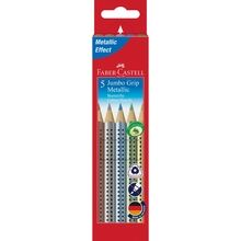 Faber Castell Jumbo Grip Thick 5 Metallic Pencils