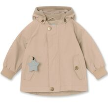 Mini A Ture Fleece Wally Doeskind Sand Jakke