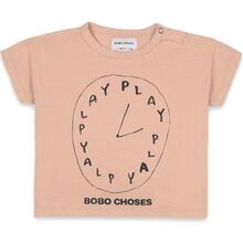 Bobo Choses Playtime Short Sleeve T-shirt Light Brown