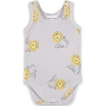 Bobo Choses Pet a Lion Sleeveless Body Quiet Gray