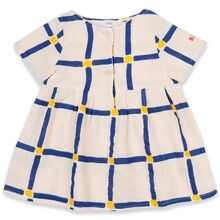Bobo Choses Cube All Over Buttoned Dress White Swan