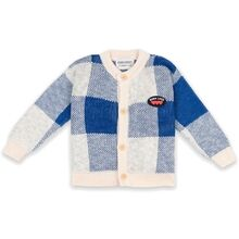 Bobo Choses Vichy Jacquard Cardigan Turtledove