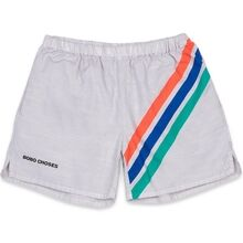 Bobo Choses Crosswise Stripes Woven Shorts Gossamer Green