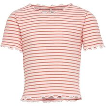Kids ONLY Living Coral Cloud Dancer Gila Crop Top
