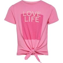 Kids ONLY Aurora Pink Silly Life Knot T-shirt