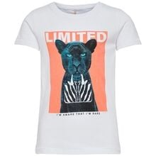 Kids ONLY Bright White Limited Vibe Animal T-shirt