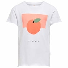 Kids ONLY Bright White Peach Liva T-shirt