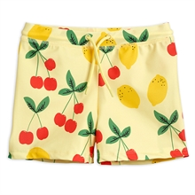 Mini Rodini Cherry Lemonade Yellow Swim Pants