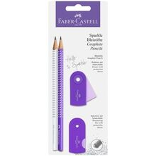 Faber Castell Sparkle Pencils White/Purple