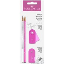 Faber Castell Sparkle Pencils White/Pink