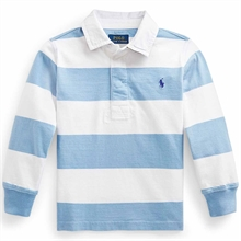 Polo Ralph Lauren Boy Long Sleeve Rugby Blouse Chambray Blue/Classic Oxford White