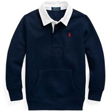 Polo Ralph Lauren Boy Long Sleeve Rugby Blouse Cruise Navy