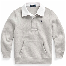 Polo Ralph Lauren Boy Long Sleeve Rugby Blouse Grey Heather