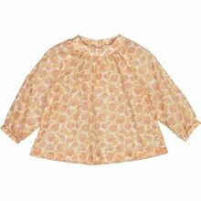 Wheat Rose Flowers Addie Bluse