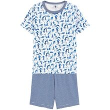 Petit Bateau Pyjamas Shorts Set Blue Cat
