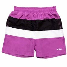 Fila Bela Purple Cactus Flower Black Bright White Badeshorts