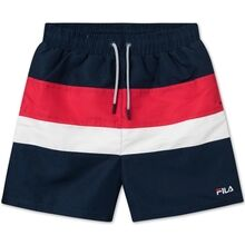 Fila Bela Black Iris True Red Bright White Swimshorts