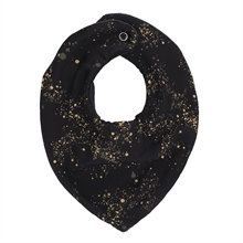 Soft Gallery Jet Black Bibs / Pacifier Mini Splash
