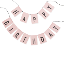 Design Letters Happy Birthday flagg Pink