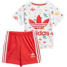 adidas White/Multicolour/Red Shorts Sett
