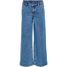 Kids ONLY Medium Blue Denim Comet Wide Cropped Jeans