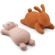 Liewood Vikky Bath Toys Cat Rose 2-Pack