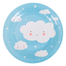 A Little Lovely Company Celebration Plates Clouds 12 stk