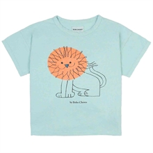 Bobo Choses Pet A Lion Short Sleeve T-shirt Light Blue