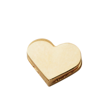 Design Letters Heart Charm GOLD Plated