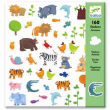 Djeco Stickers Wild Animals