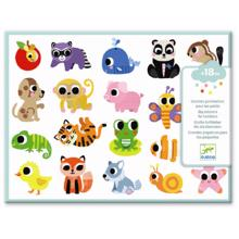 Djeco Stickers for Toddlers Baby Animals