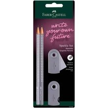 Faber Castell Grip Sparkle Dapple Grey Pencil 2 pcs.