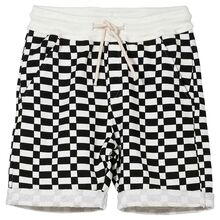 Finger In The Nose New Grounded Ash Black / Off White Checkers Bermuda Shorts