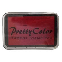 Goki Pigment Stamp Pad Dark Red