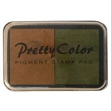 Goki Pigment Stamp Pad Brown/Army Green