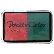 Goki Pigment Stamp Pad Red/Green