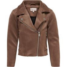 Kids ONLY Cognac Carla Bonded Biker Jacket for barn