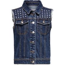 Kids ONLY Medium Denim Blue Lea Star Vest