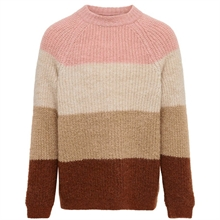 Kids ONLY BARN Mahogni Rose Jade L / S Stripe Strikk