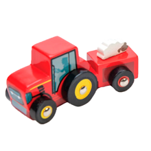 Le Toy Van Tractor Trails Red