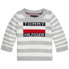 Tommy Hilfiger Baby Sweater Bright White/Grey Heather