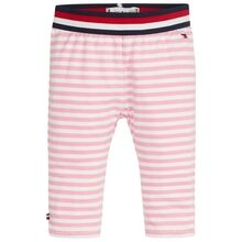 Tommy Hilfiger Baby Stripe Leggings Sea Pink/Bright White