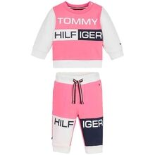 Tommy Hilfiger Baby Colorblock Sweatsæt Exotic Pink
