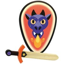 Vilac Wooden Sword and Shield - Dragon