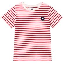 Wood Wood Red Stripes / Off White Double A Ola T-skjorte for barn