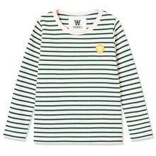 Wood Wood Faded Green / Off White Kim Kids Langermet Bluse